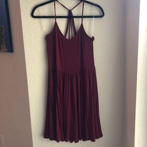 American Eagle Maroon Dress